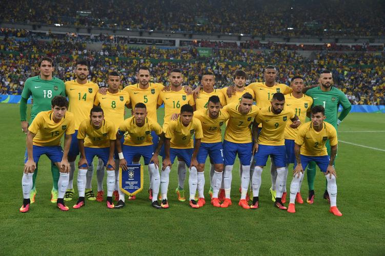 Brasiliens Nationalteam beim olmpischen U-23 Turnier. Einige der jungen wilden werden es sicher auch in den WM 2018 Kader schaffen. Photo: Shutterstock.