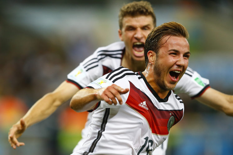 WM-Final-Siegtorschütze Mario Götze - Die deutschen wollen auch 2018 wieder Weltmeister werden. Photo: Shutterstock.