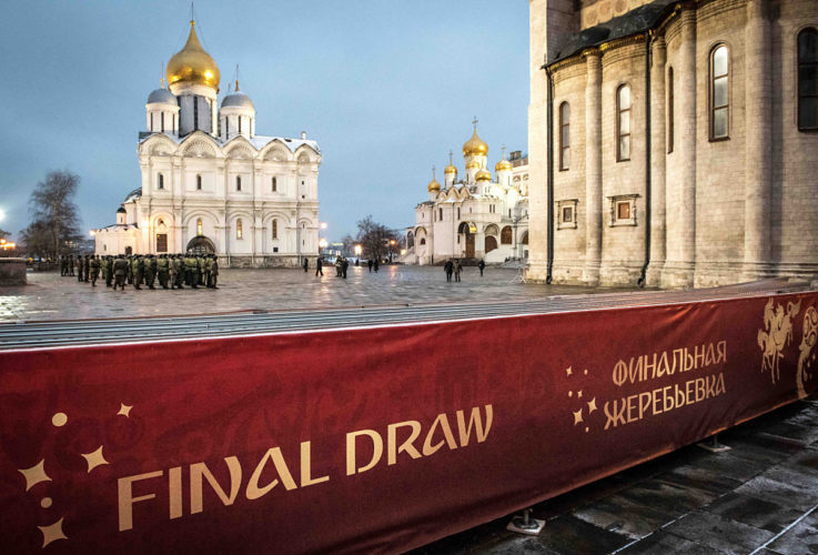 Die WM 2018 Auslosung am 1.12.2017 in Moskau (Foto AFP)