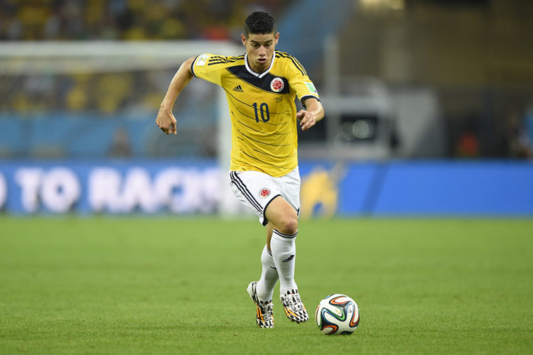 James Rodriguez aus Kolumbien - Torschützenkönig 2014 bei der WM in Brasilien (Foto Shutterstock)