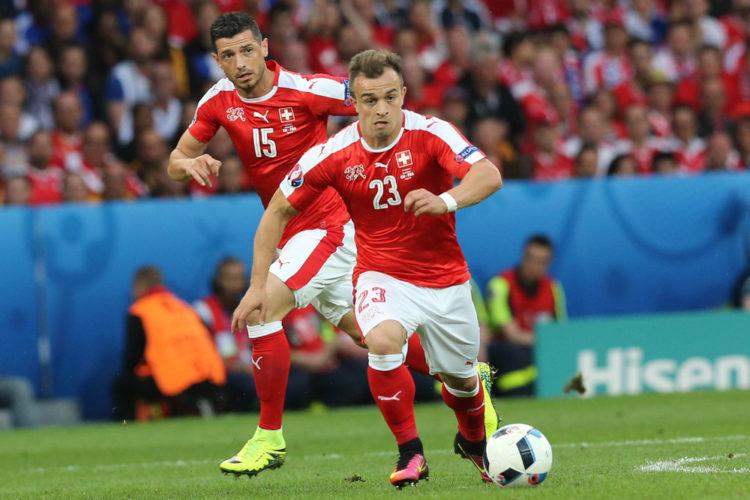 Shaqiri im Schweizer Nati-Trikot bei der EURO 2016 (Foto AFP)