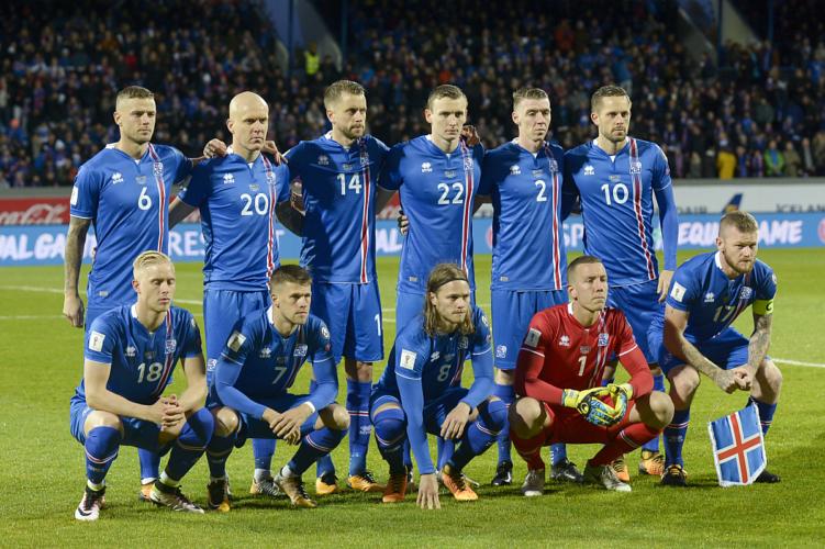 Islands Fussballnationalmannschaft - schaffen sie auch bei der WM 2018 die Überraschung? Foto Reykjavik, Iceland on October 9, 2017. / AFP PHOTO / Haraldur Gudjonsson