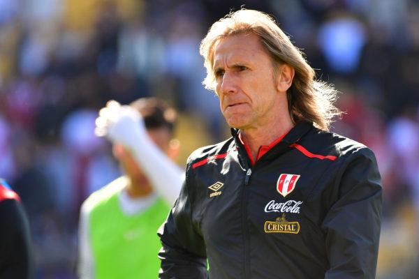 Perus Trainer Ricardo Gareca. Copyright: AFP.