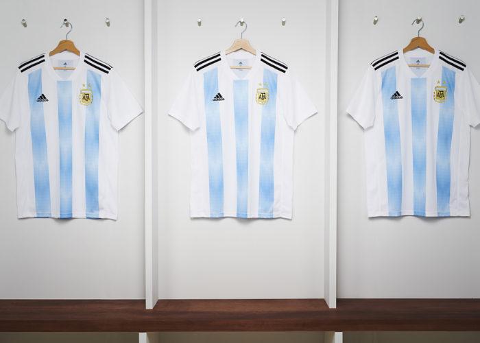 Die neuen Trikots von Lionel Messi für Argentinien von adidas.