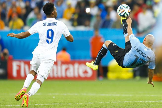 Daniel Sturridge bei der WM 2014 im Spiel England - Uruguay. Photo: Shutterstock!