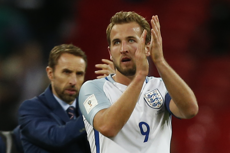 Englands Stürmerstar Harry Kane beim Spiel der Engländer gegen Slowenien im Wembley Stadion, London am 5. Oktober 2017. / AFP PHOTO / Ian KINGTON / NOT FOR MARKETING OR ADVERTISING USE / RESTRICTED TO EDITORIAL USE