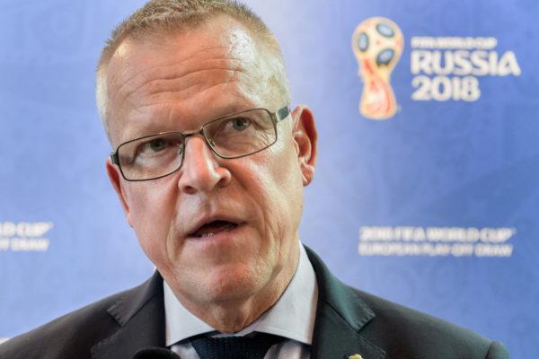 Schwedens Trainer Janne Anderson. Copyright: AFP.
