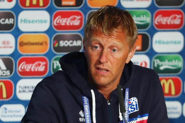Heimir Hallgrimsson ist der Cheftrainer von Island bei der WM. Copyright: AFP.