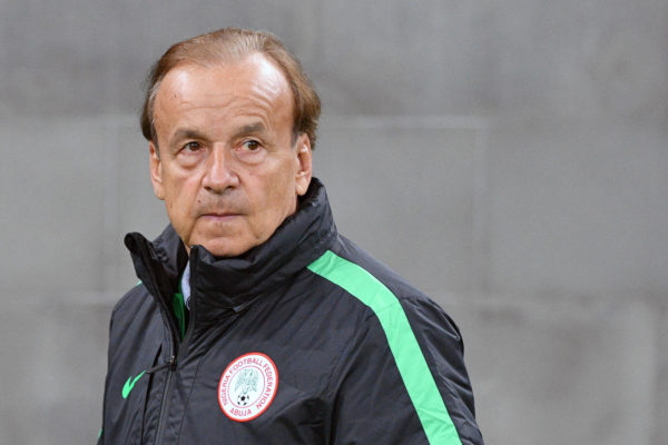 Nigerias deutscher Trainer Gernot Rohr. Copyright: AFP.