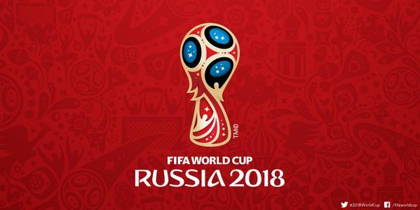 Das offizielle FIFA World Cup Russia 2018 Logo - dieses Logo darf nur redaktionell verwendet werden, aber nicht für kommerzielle Zwecke.