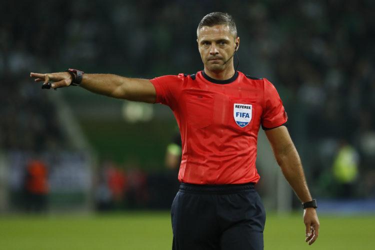 Damir Skomina wird auch bei der WM 2018 wieder einer der Schiedsrichter sein. Der Slovake pfeift schon seit Jahren wichtige Spiele in der Champions League. / AFP PHOTO / Odd ANDERSEN