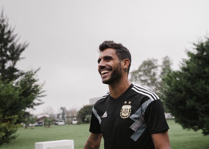 Das aktuelle Auswärtstrikot von Argentinien von adidas 2018 (Foto Adidas)