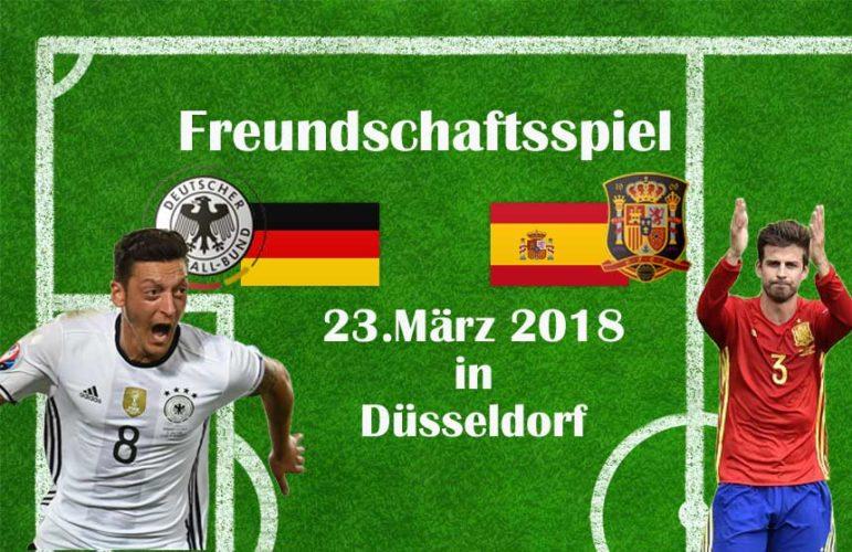 Länderspiel Deutschland gegen Spanien 2018