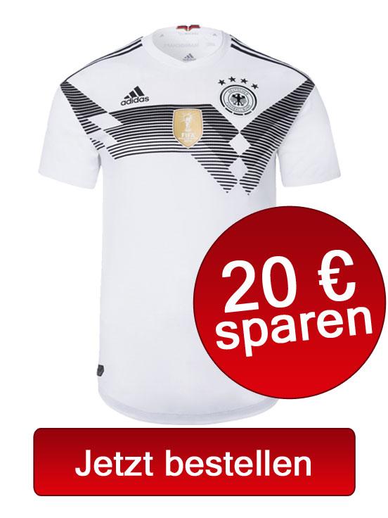 Jetzt das neue DFB Trikot i der Heimversion 2018 von adidas bestellen!