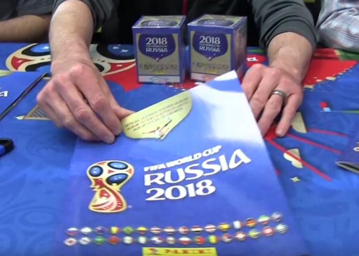 Die neuen Panini Sammelsticker zur WM 2018 vorgestellt.