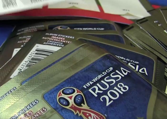 Das neue Panini Sammelalbum zur WM 2018 vorgestellt.