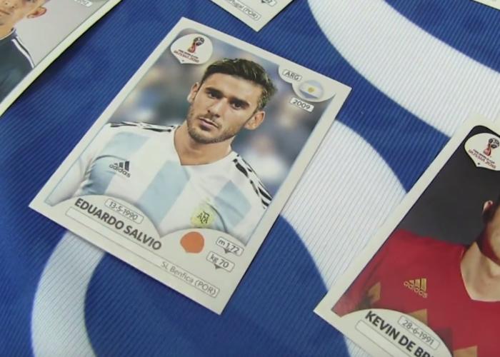 Das neue Panini Heft zur WM 2018 vorgestellt.