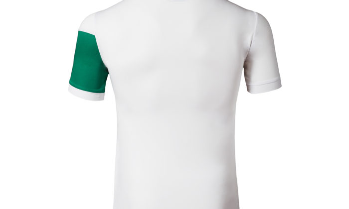Der Rücken des 2017er WM Trikots. Ein schönes Detail ist die Landesfahne auf dem Nacken.