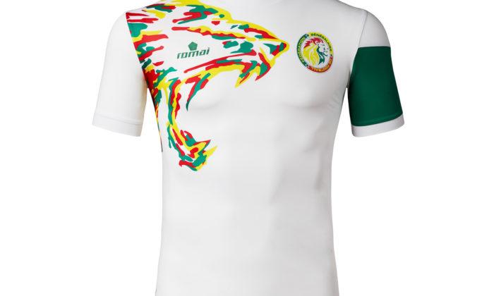 Das Heimtrikot von Ausstatter Romai. 2018 Wird Senegal jedoch mit Trikots von Puma ins Rennen gehen.