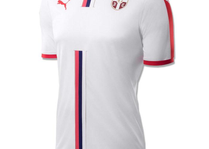 Serbiens neues Auswärtstrikot für die WM 2018. Photo: Puma.
