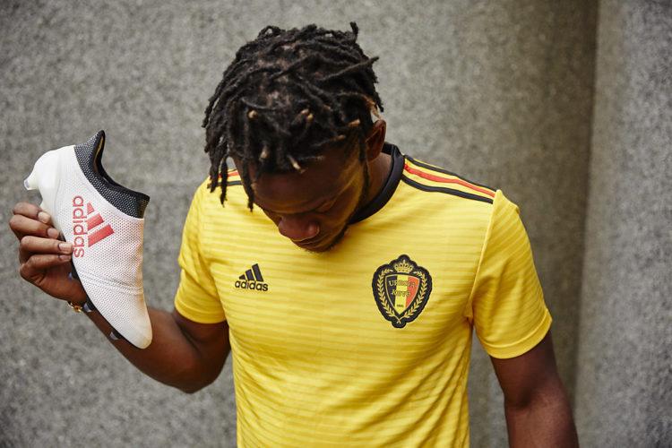 Belgiens neues Awaystrikot von adidas in gelb.