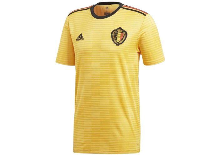Das Away Trikot von Belgien für die WM 2018 – diesmal in knallgelb! Photo: Adidas.