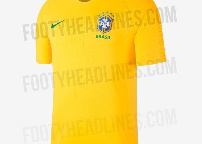 Das neue Brasilien Heimtrikot 2018. Photo: Footyheadlines.