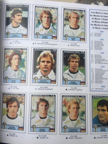 Blick in das Panini-Heft von 1978: die deutsche Nationalmannschaft!