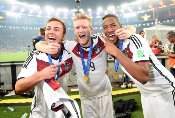 Deutschland feiert gegen Argentinien ein 1:0 im FIFA World Cup Finale im Maracana Stadium in Rio de Janeiro am 13.Juli 2014. AFP PHOTO / PATRIK STOLLARZ