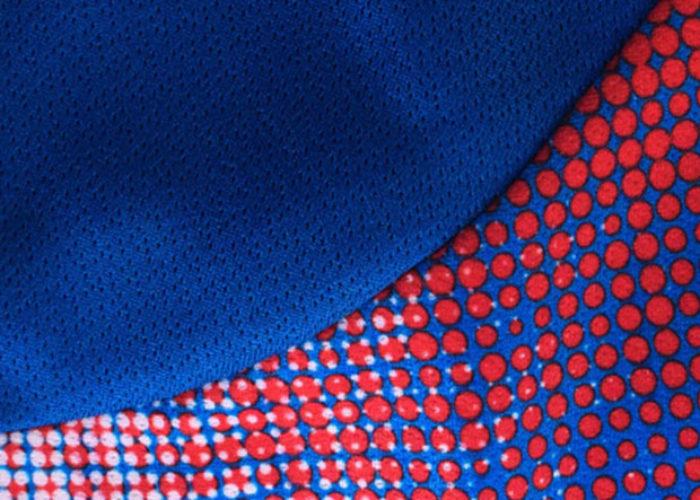 Das Pixelmuster der WM 2018 Trikots von Island im Detail. Photo: Errea.