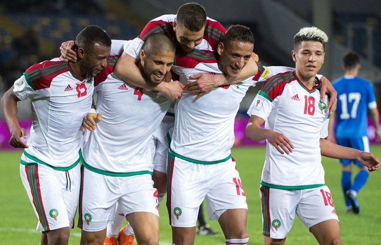 Marokkos neues Heimtrikot beim Freundschaftsspiel gegen Usbekistan in Casablanca am 27. März 2018. / AFP PHOTO / FADEL SENNA