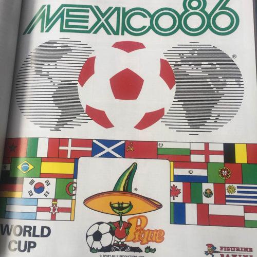 Das Panini Heft der Fußball WM 1986