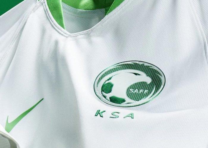 Das neue Saudi-Arabien WM 2018 Trikot im Detail. Photo: Nike.