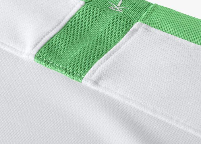 Der Nacken des neuen Heimtrikots der Saudis im Detail. Photo: Nike.
