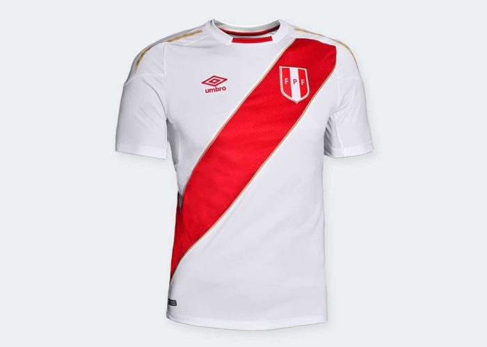 Das neue Peru Heimtrikot von Umbro für die WM 2018. Photo: Umbro Presse.