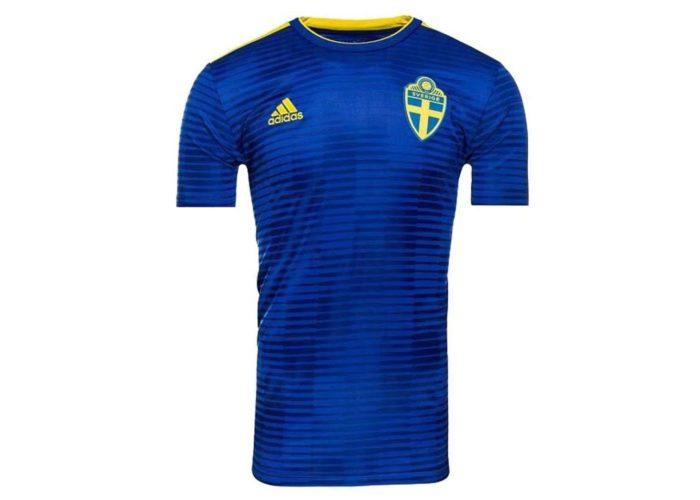 Schwedens neues Auswärtstrikot von Adidas. Photo: Adidas Presse.