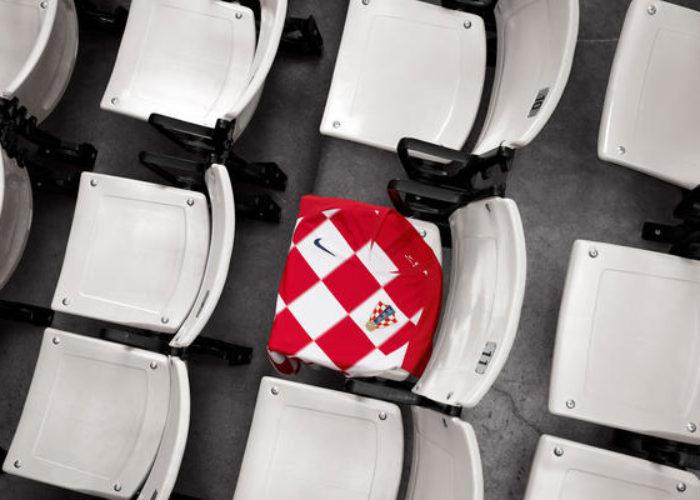 Das neue Heimtrikot von Kroatien beim Nike Photoshoot.  Photo: Nike.