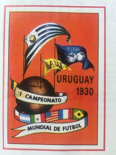 Das Logo und Poster der Fußball WM 1930