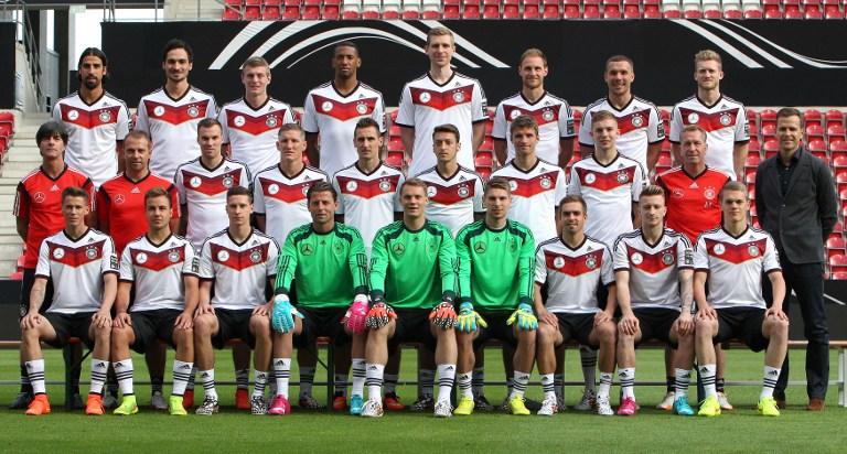 Der deutsche Kader zur Fußball WM 2014 - Weltmeister! AFP PHOTO / DANIEL ROLAND