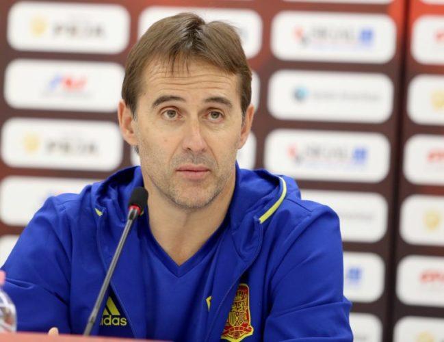 Spaniens Trainerhoffnung für die WM 2018 Julen Lopetegui – geht nun zu Real Madrid. / AFP PHOTO / GENT SHKULLAKU