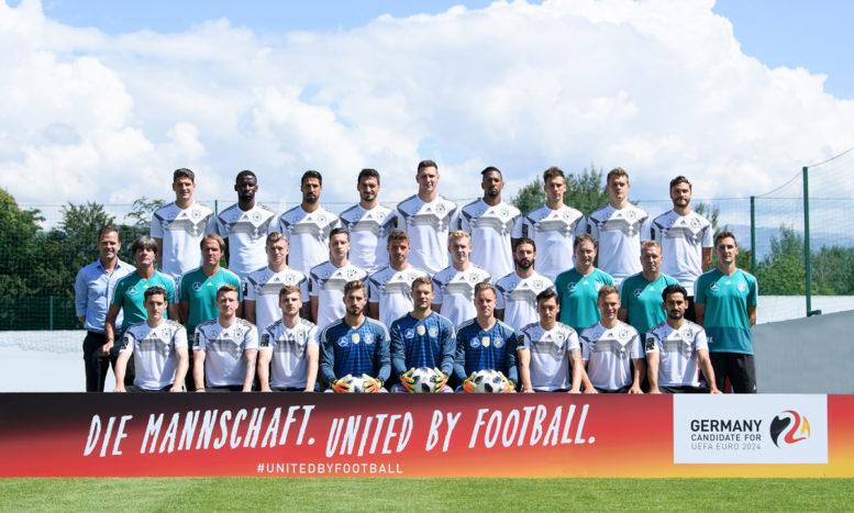 Der deutsche WM Kader 2018 im Trainingslager in Eppan. (Foto DFB)Der deutsche WM Kader 2018 im Trainingslager in Eppan. (Foto DFB)