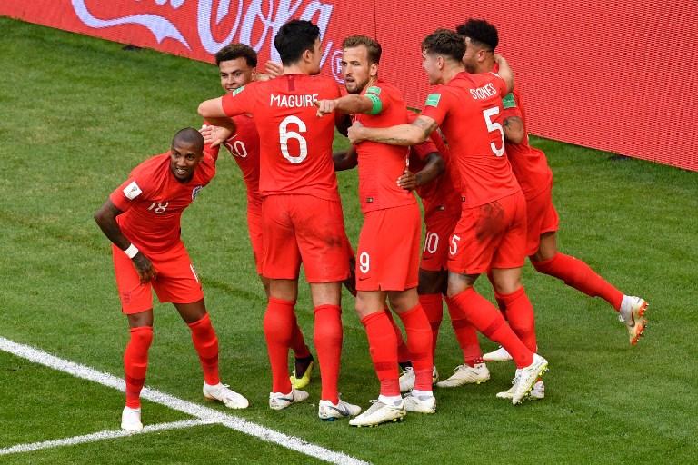 England gewinnt im Viertelfinale gegen Schwerden!/ AFP PHOTO / Alexander NEMENOV