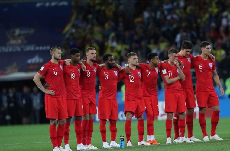 England beim Elfmeterschießen gegen Kolumbien - 5:4 Sieg und Einzug ins WM-Viertelfinale der Fußball WM 2018. (Marco Iacobucci EPP / Shutterstock)